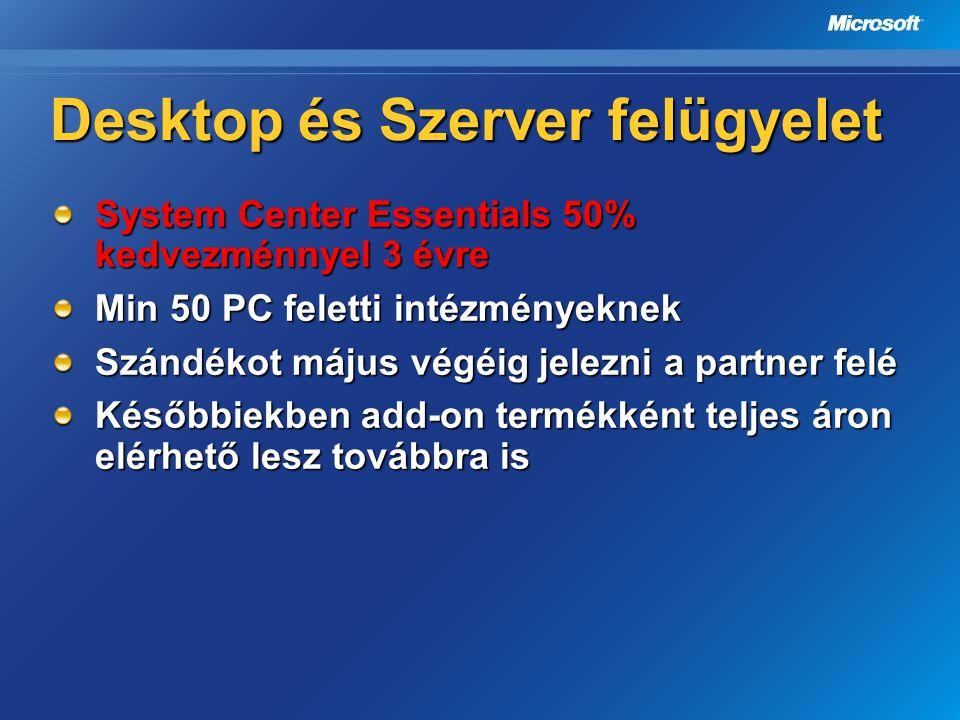 Desktop és Szerver felügyelet