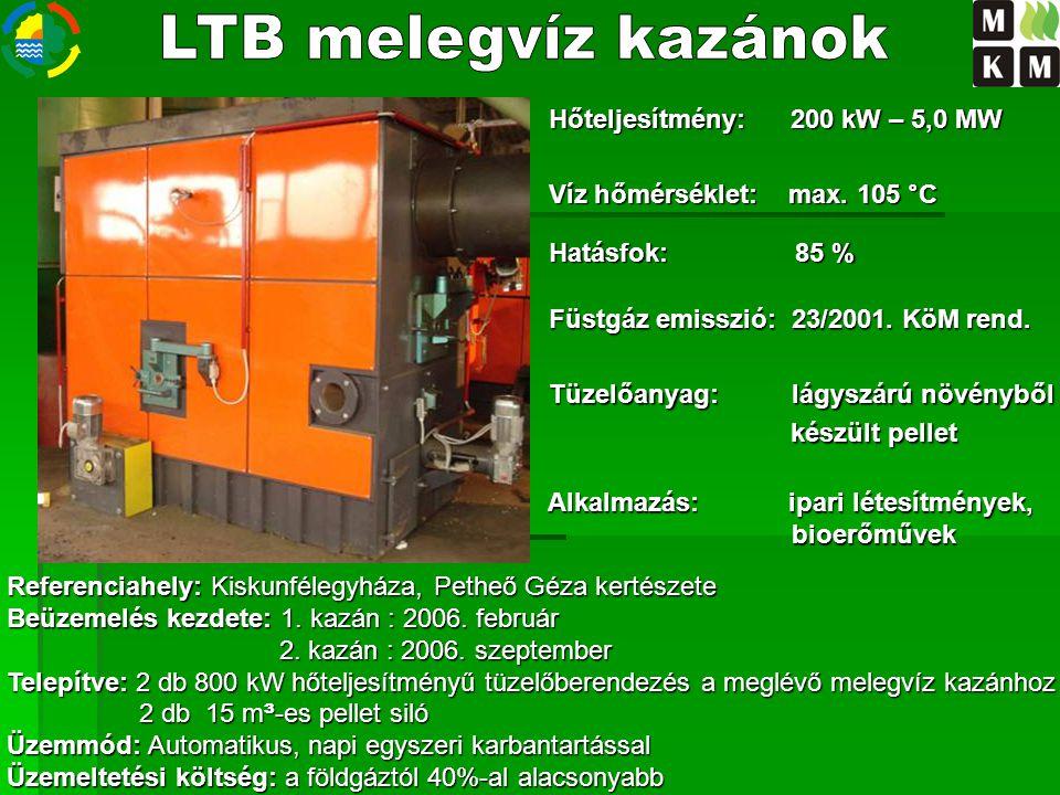 LTB melegvíz kazánok Hőteljesítmény: 200 kW – 5,0 MW