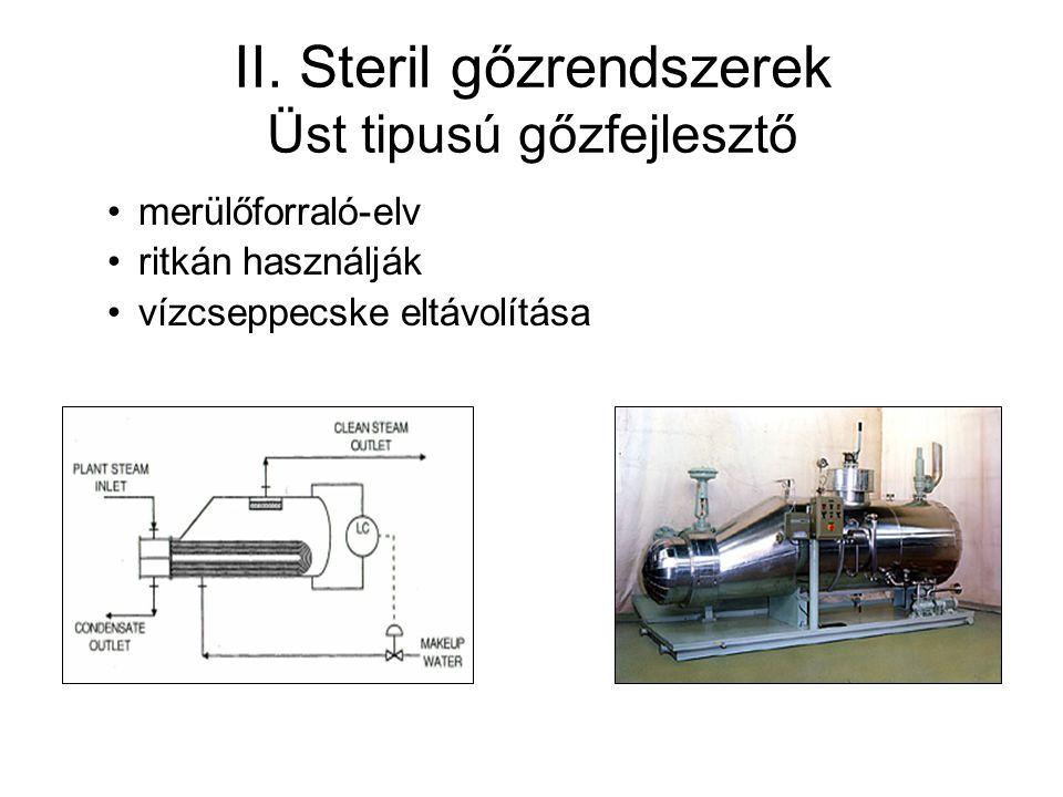 II. Steril gőzrendszerek Üst tipusú gőzfejlesztő