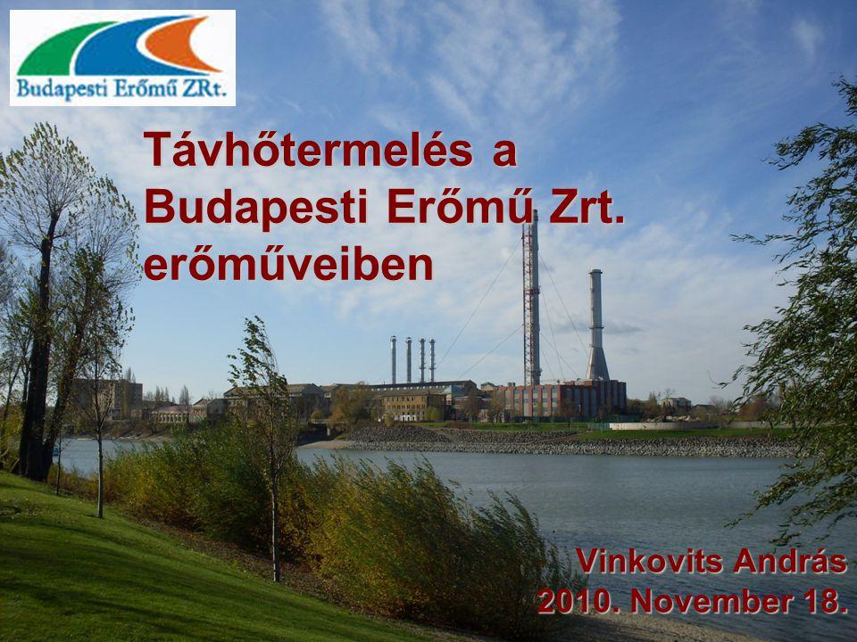 Távhőtermelés a Budapesti Erőmű Zrt. erőműveiben