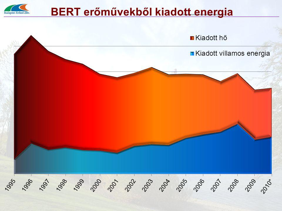 BERT erőművekből kiadott energia