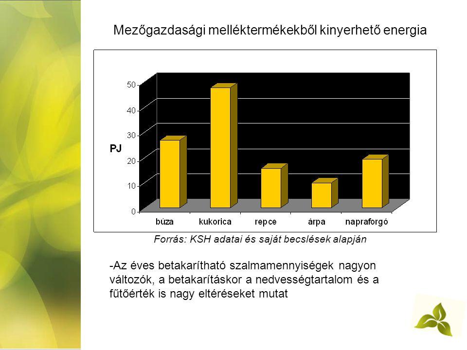 Mezőgazdasági melléktermékekből kinyerhető energia