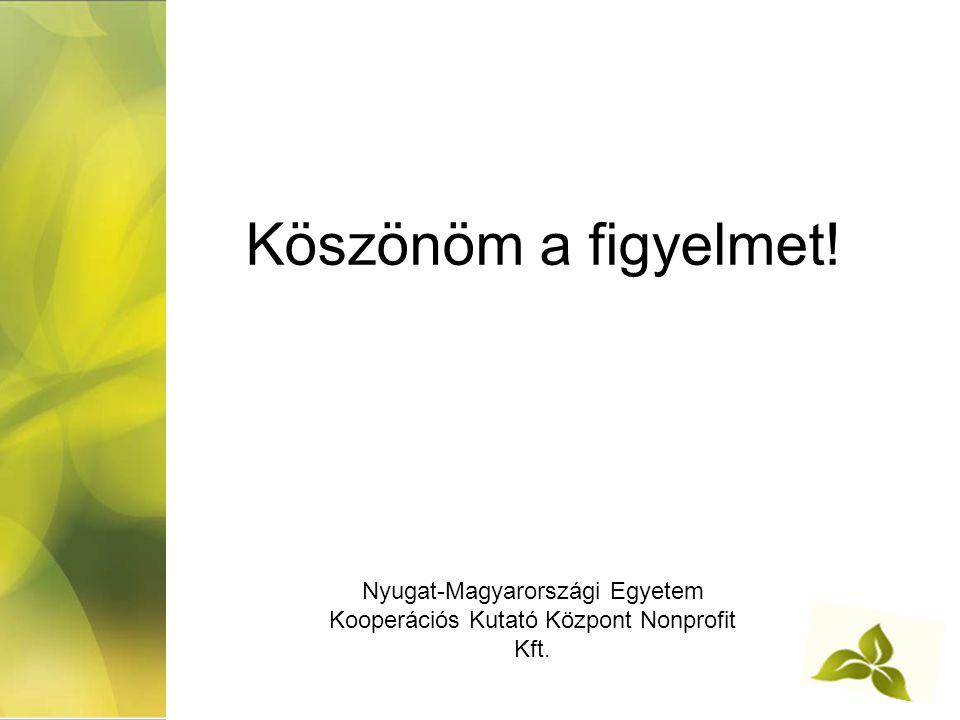 Nyugat-Magyarországi Egyetem Kooperációs Kutató Központ Nonprofit Kft.