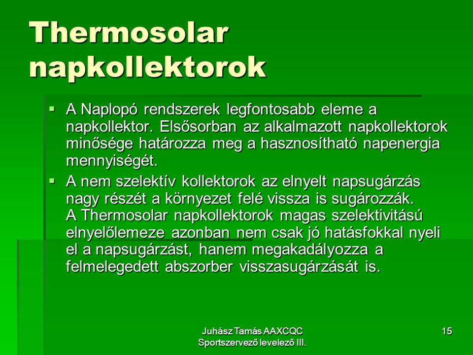 Thermosolar napkollektorok