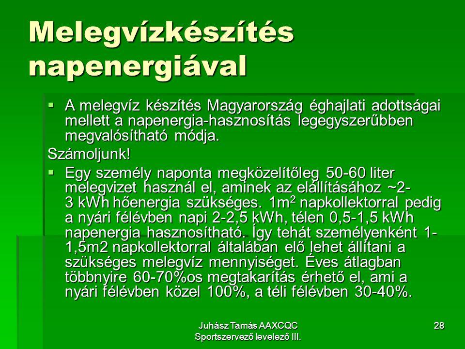 Melegvízkészítés napenergiával