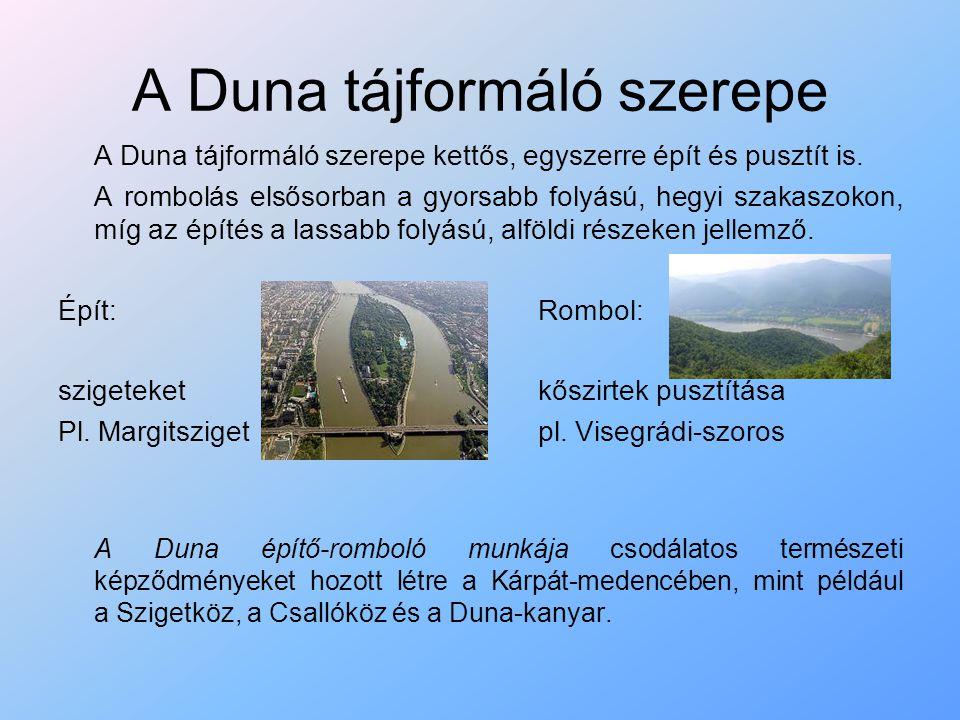 A Duna tájformáló szerepe