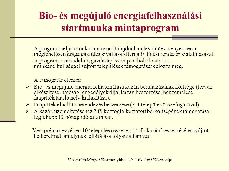 Bio- és megújuló energiafelhasználási startmunka mintaprogram