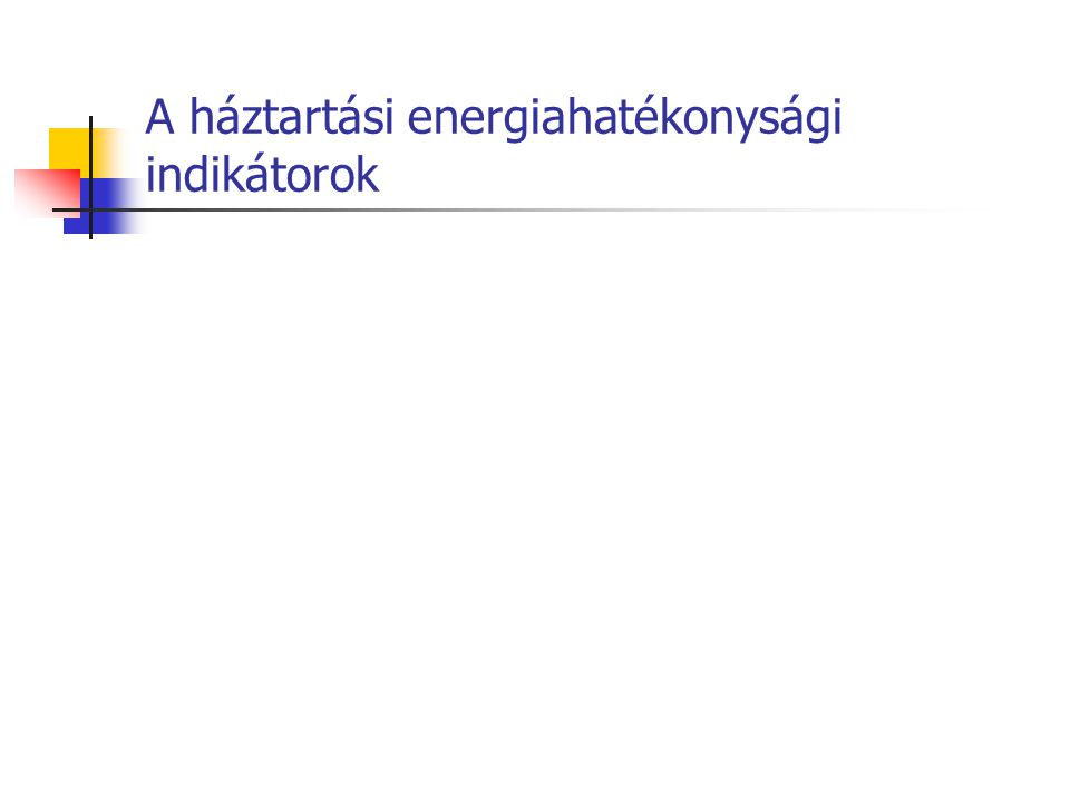A háztartási energiahatékonysági indikátorok