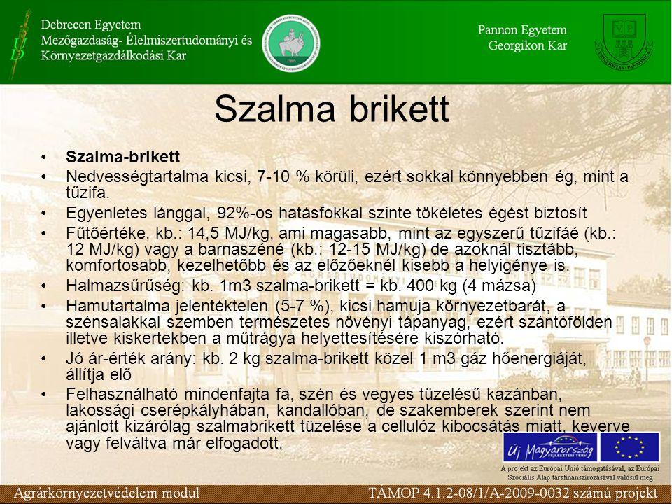 Szalma brikett Szalma-brikett