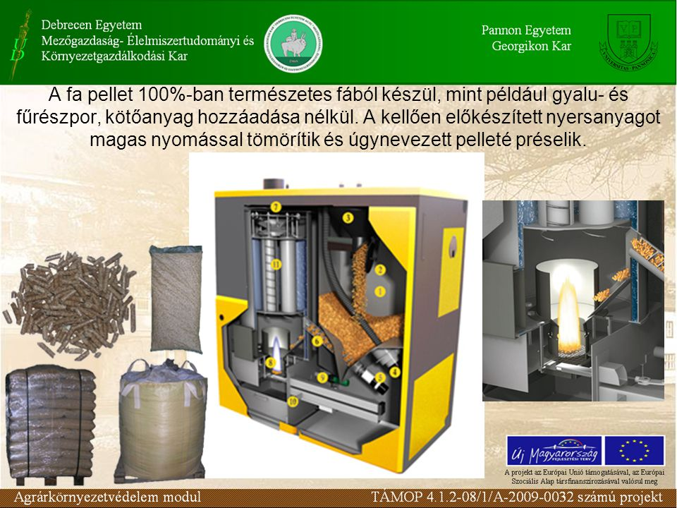 A fa pellet 100%-ban természetes fából készül, mint például gyalu- és fűrészpor, kötőanyag hozzáadása nélkül.