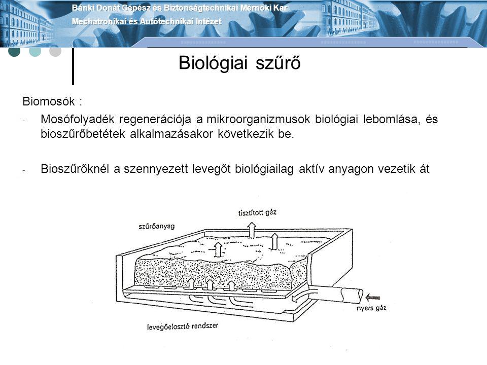Biológiai szűrő Biomosók :