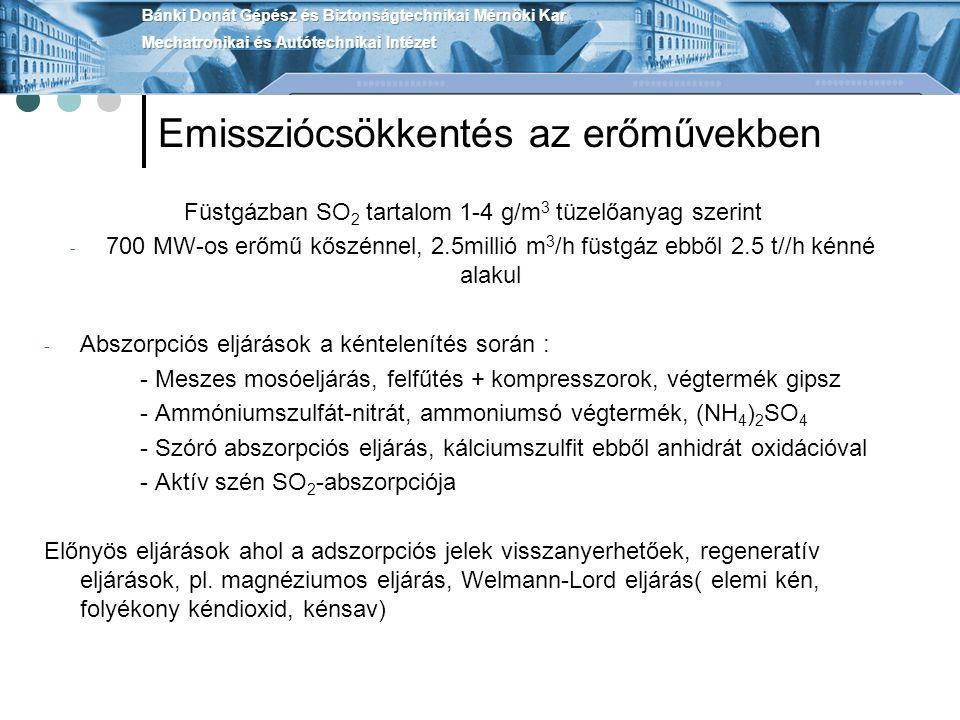 Emissziócsökkentés az erőművekben
