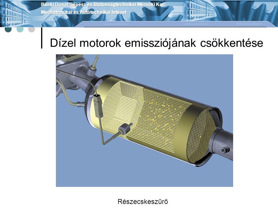 Dízel motorok emissziójának csökkentése