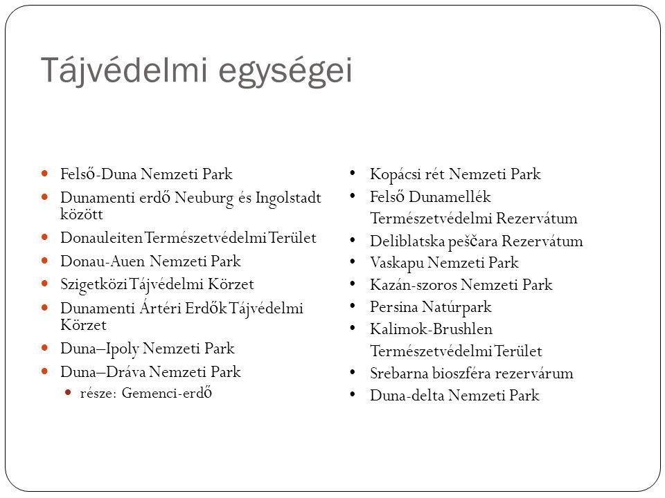 Tájvédelmi egységei Felső-Duna Nemzeti Park