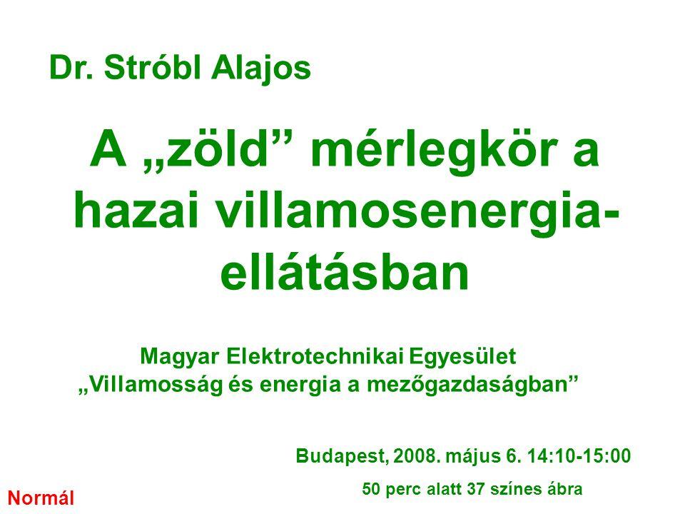 """A """"zöld mérlegkör a hazai villamosenergia-ellátásban"""