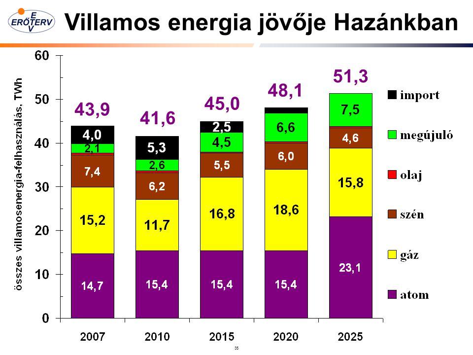 Villamos energia jövője Hazánkban
