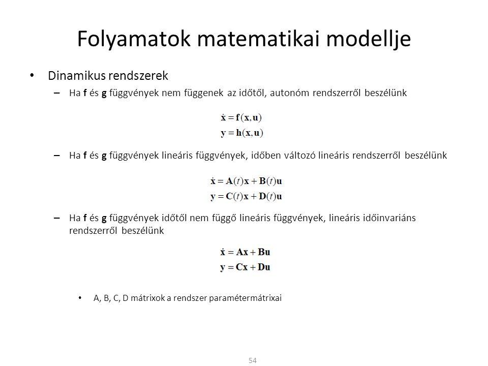 Folyamatok matematikai modellje