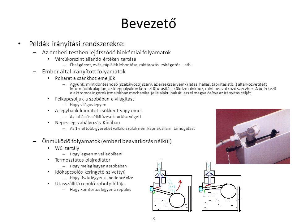 Bevezető Példák irányítási rendszerekre: