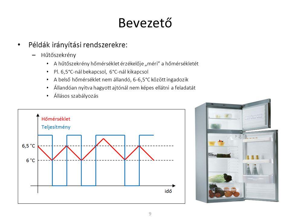 Bevezető Példák irányítási rendszerekre: Hűtőszekrény