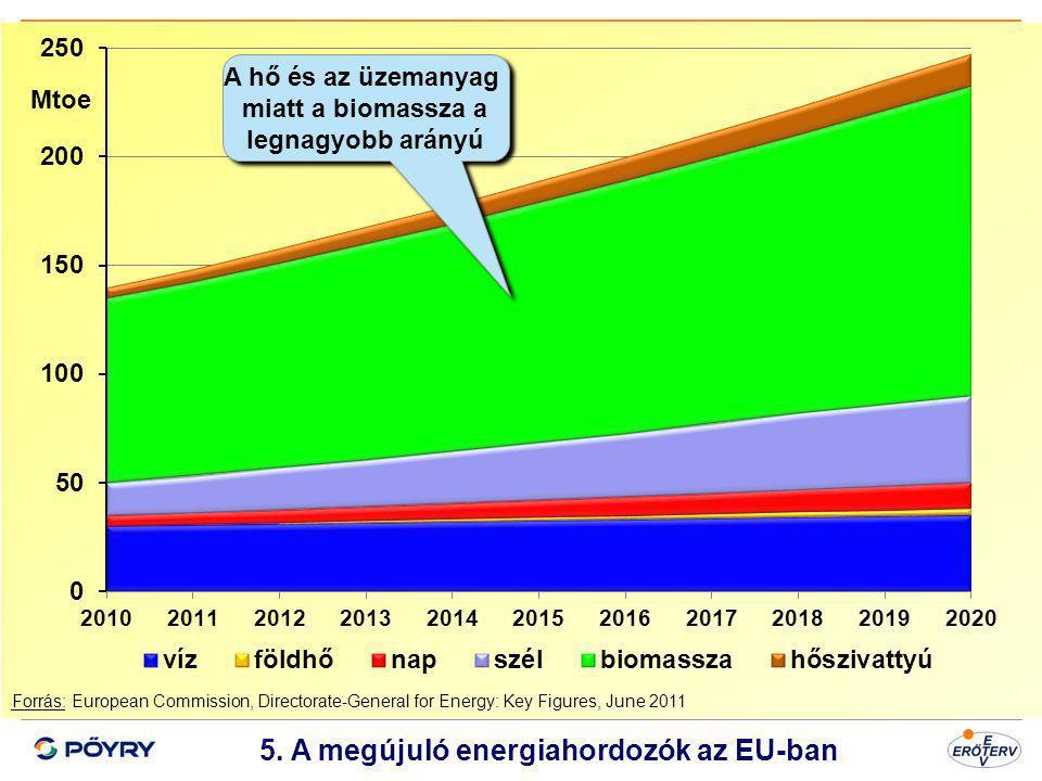 5. A megújuló energiahordozók az EU-ban