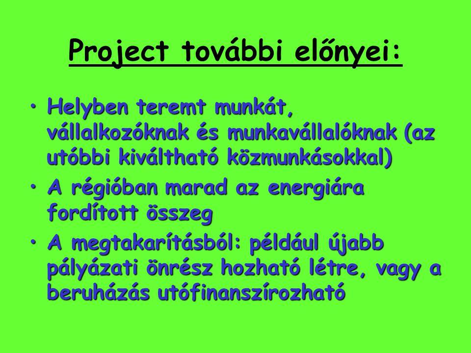 Project további előnyei:
