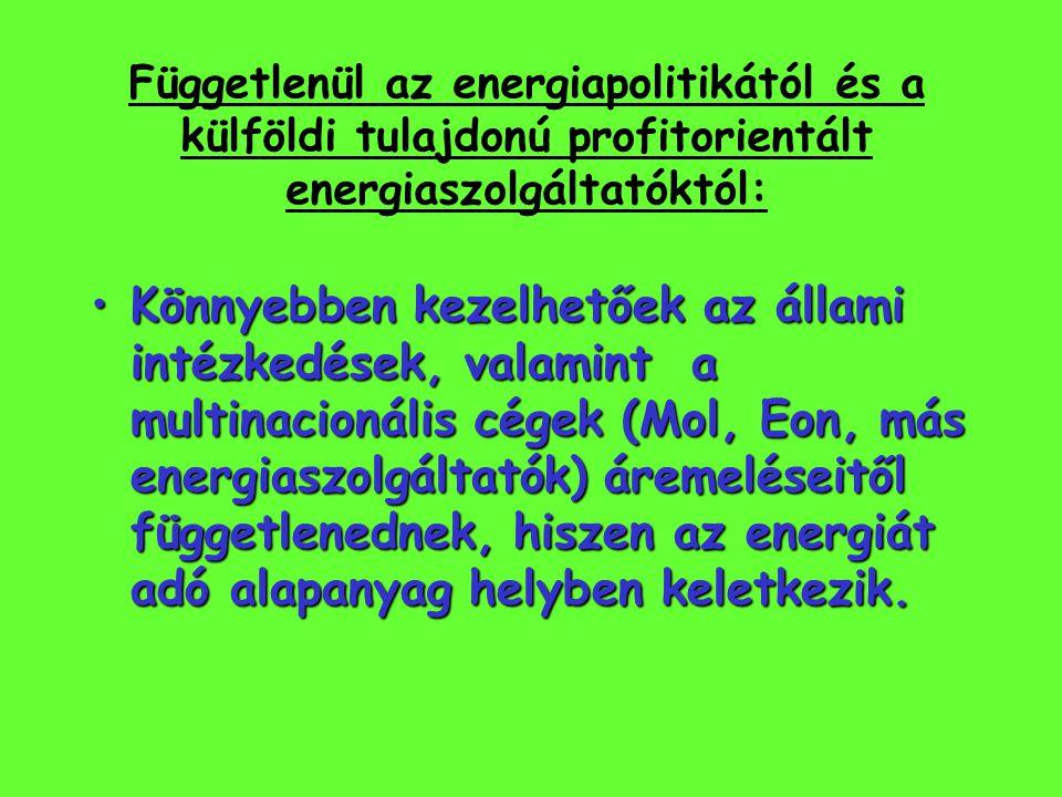 Függetlenül az energiapolitikától és a külföldi tulajdonú profitorientált energiaszolgáltatóktól: