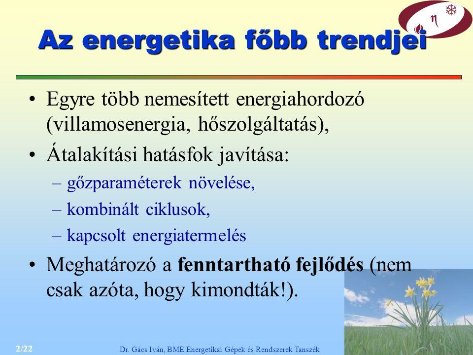 Az energetika főbb trendjei