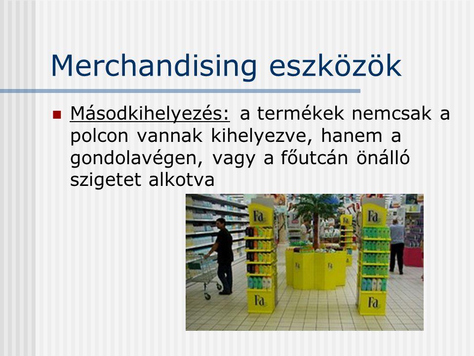 Merchandising eszközök