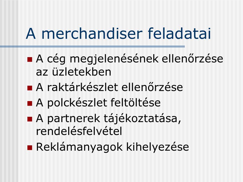 A merchandiser feladatai