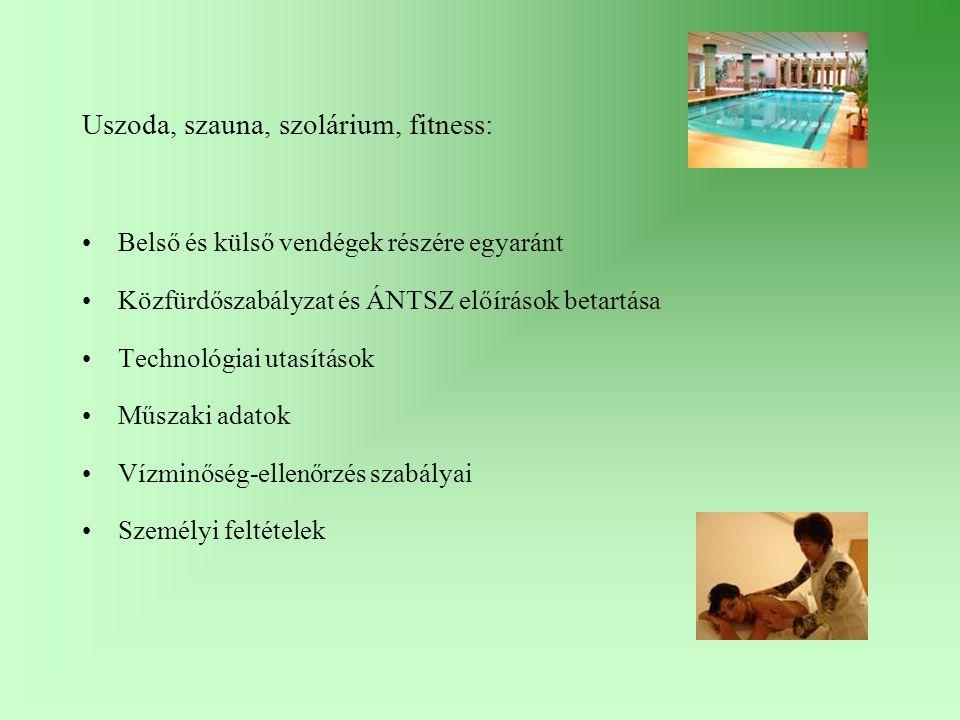 Uszoda, szauna, szolárium, fitness: