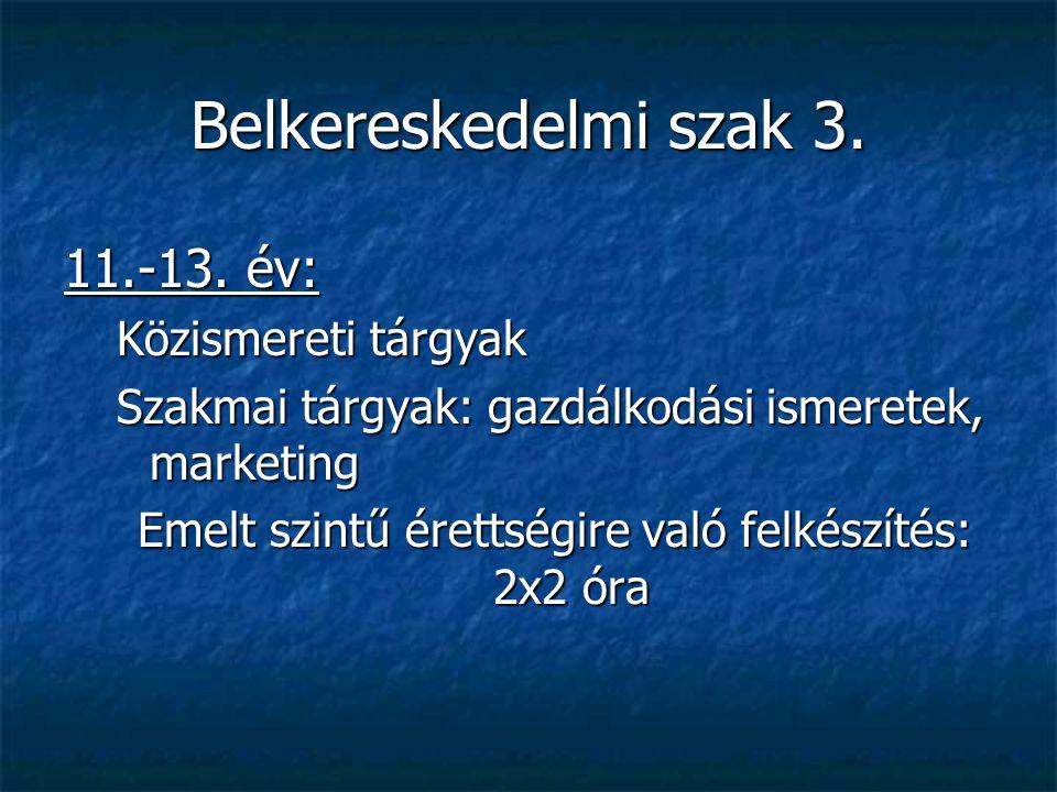 Emelt szintű érettségire való felkészítés: 2x2 óra