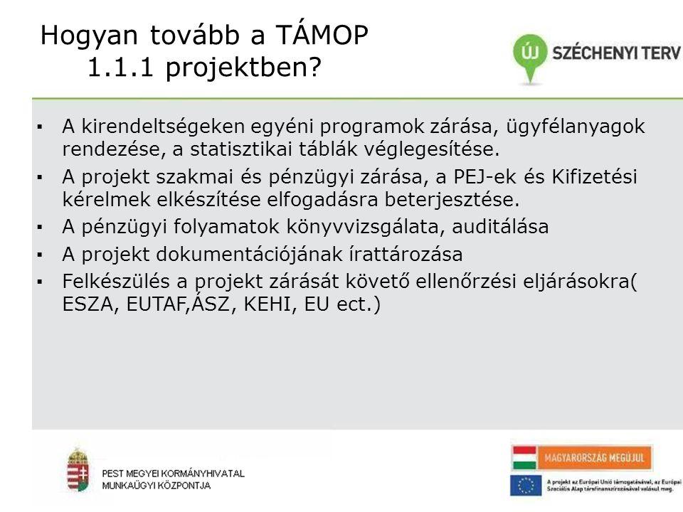 Hogyan tovább a TÁMOP 1.1.1 projektben