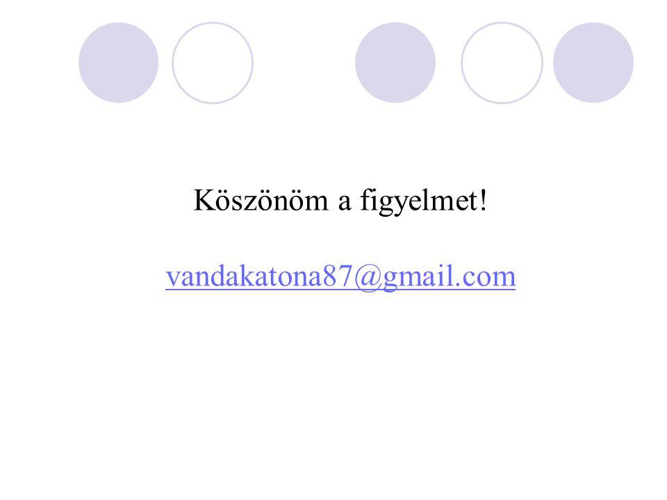 Köszönöm a figyelmet! vandakatona87@gmail.com
