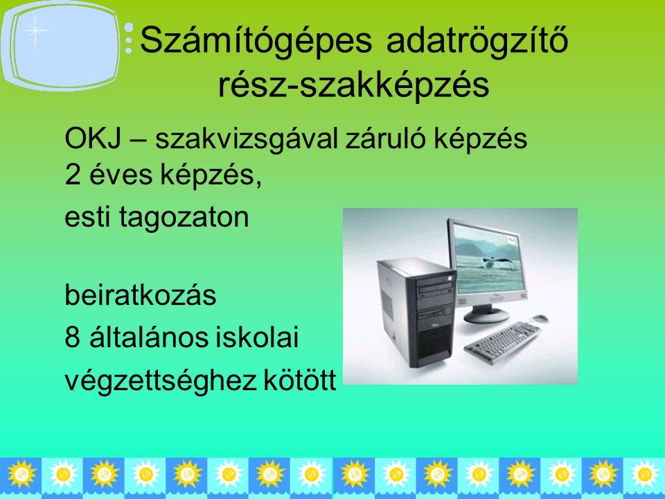 Számítógépes adatrögzítő rész-szakképzés