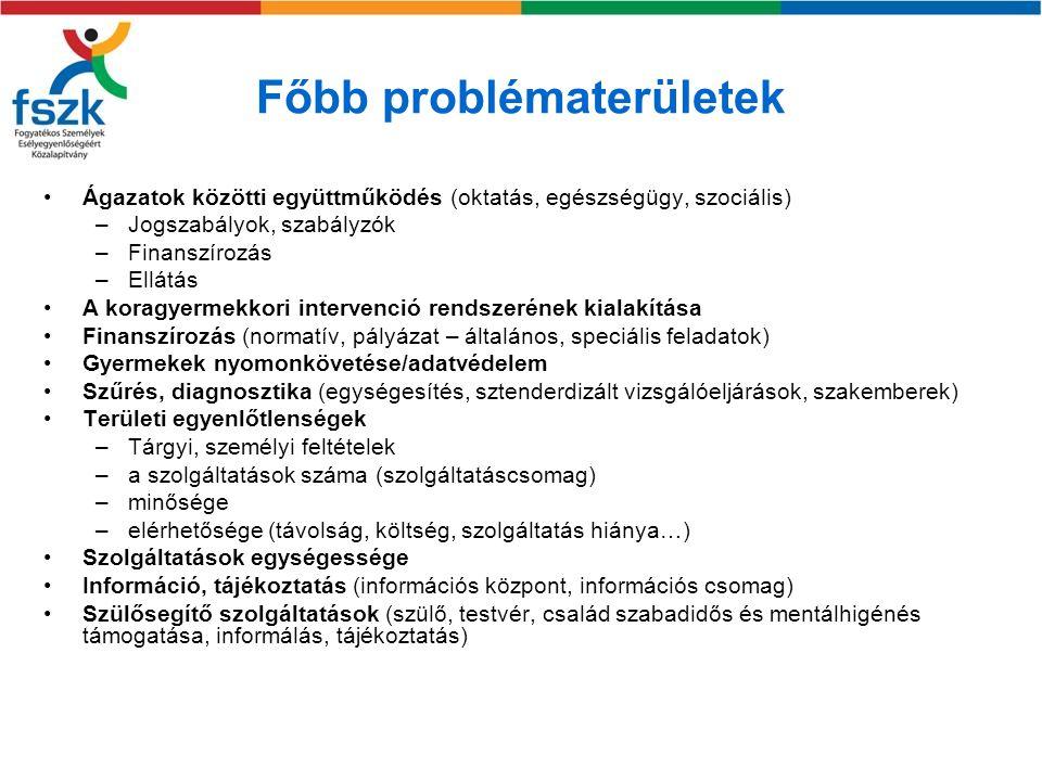 Főbb problématerületek