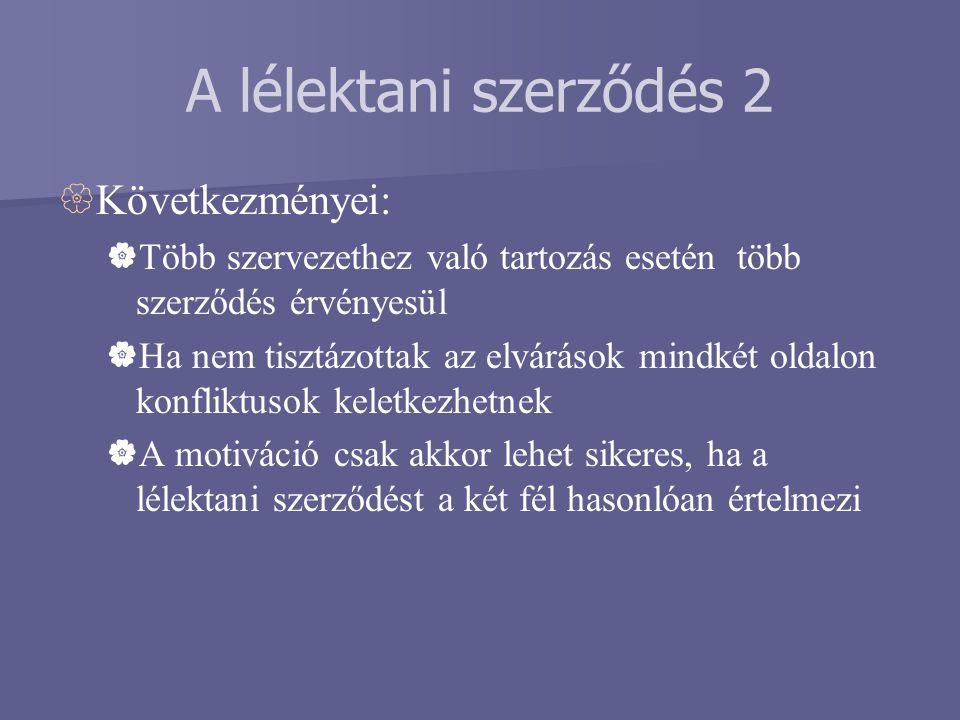 A lélektani szerződés 2 Következményei: