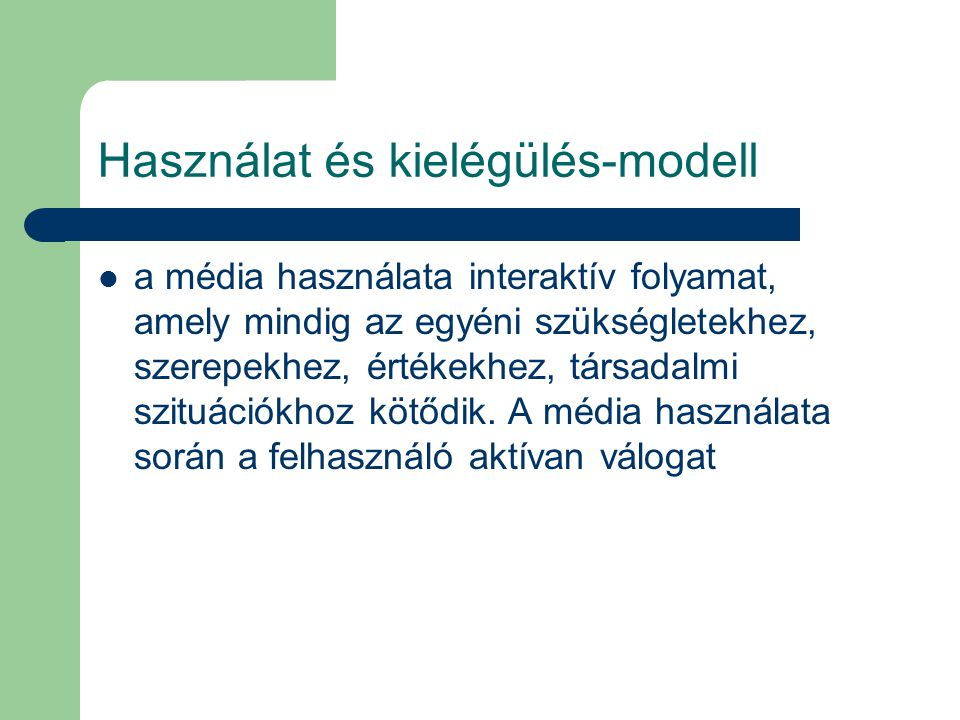 Használat és kielégülés-modell
