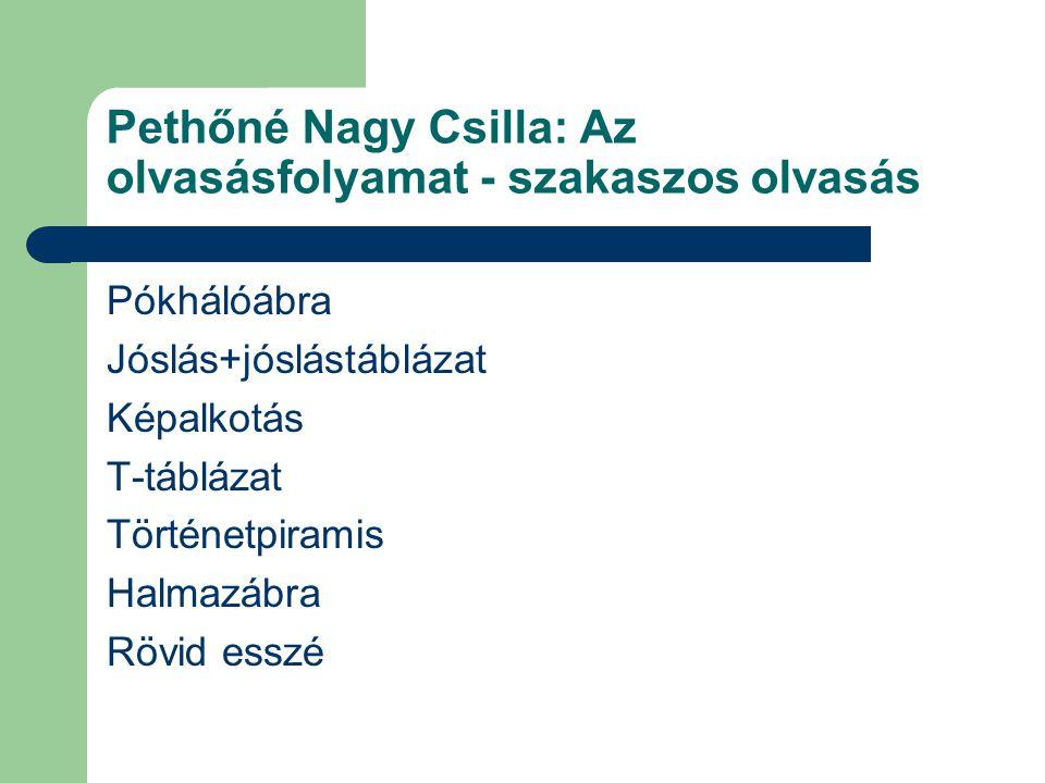 Pethőné Nagy Csilla: Az olvasásfolyamat - szakaszos olvasás