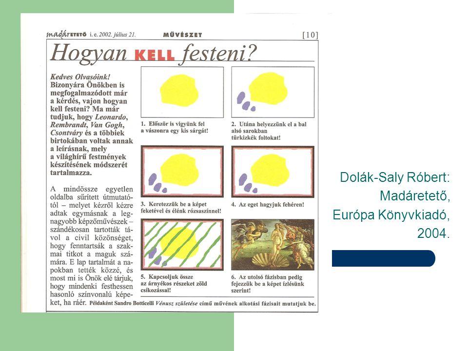 Dolák-Saly Róbert: Madáretető, Európa Könyvkiadó, 2004.
