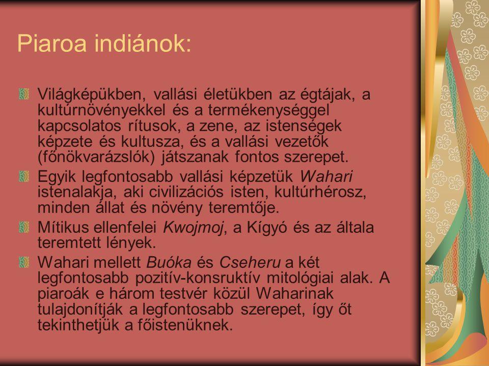 Piaroa indiánok: