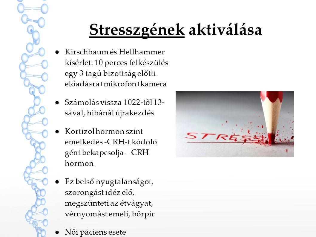 Stresszgének aktiválása