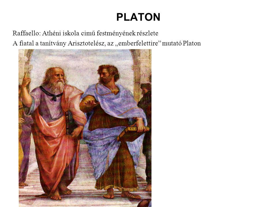 PLATON Raffaello: Athéni iskola cimű festményének részlete