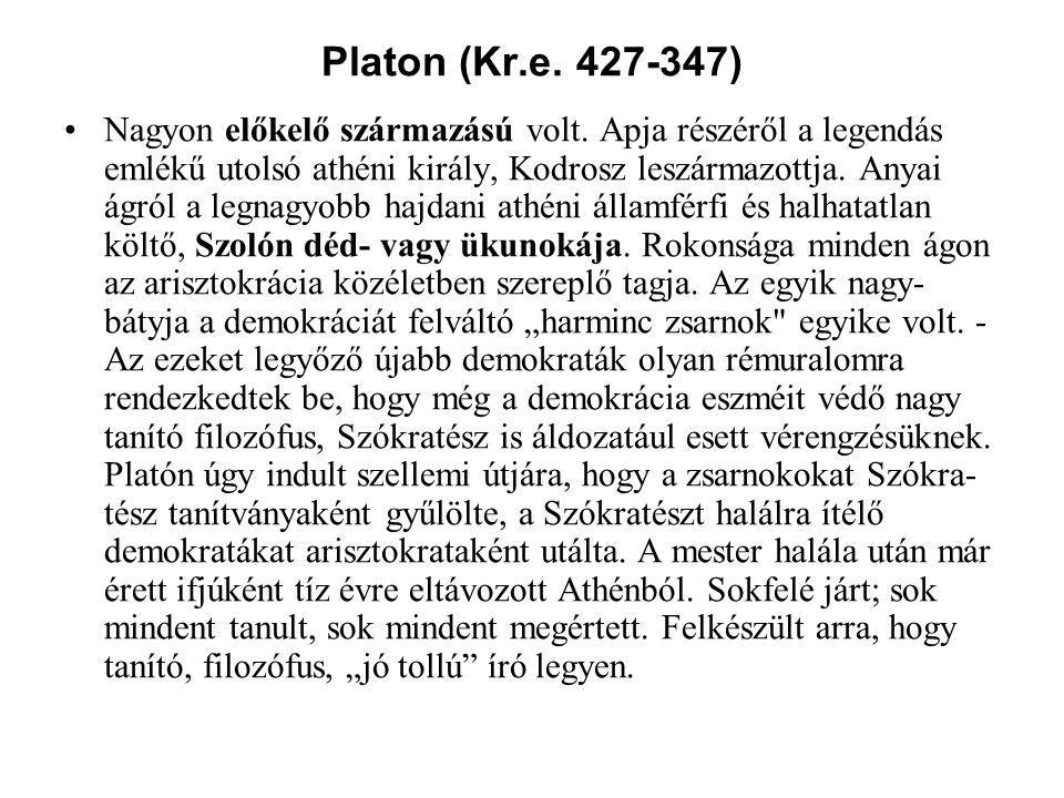 Platon (Kr.e. 427-347)