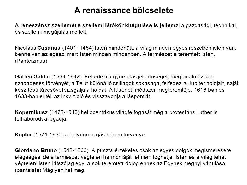 A renaissance bölcselete
