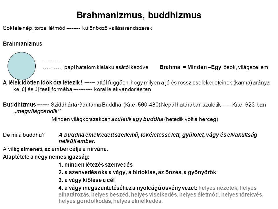 Brahmanizmus, buddhizmus