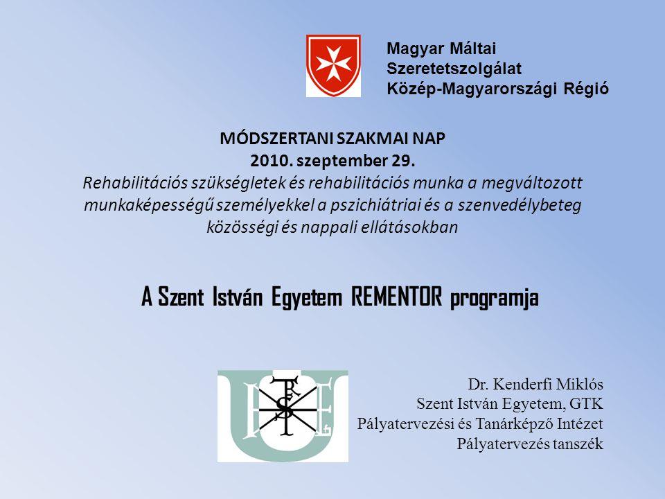 A Szent István Egyetem REMENTOR programja