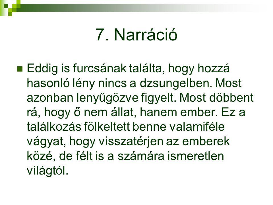 7. Narráció