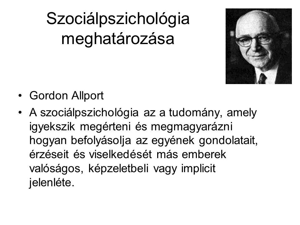 Szociálpszichológia meghatározása