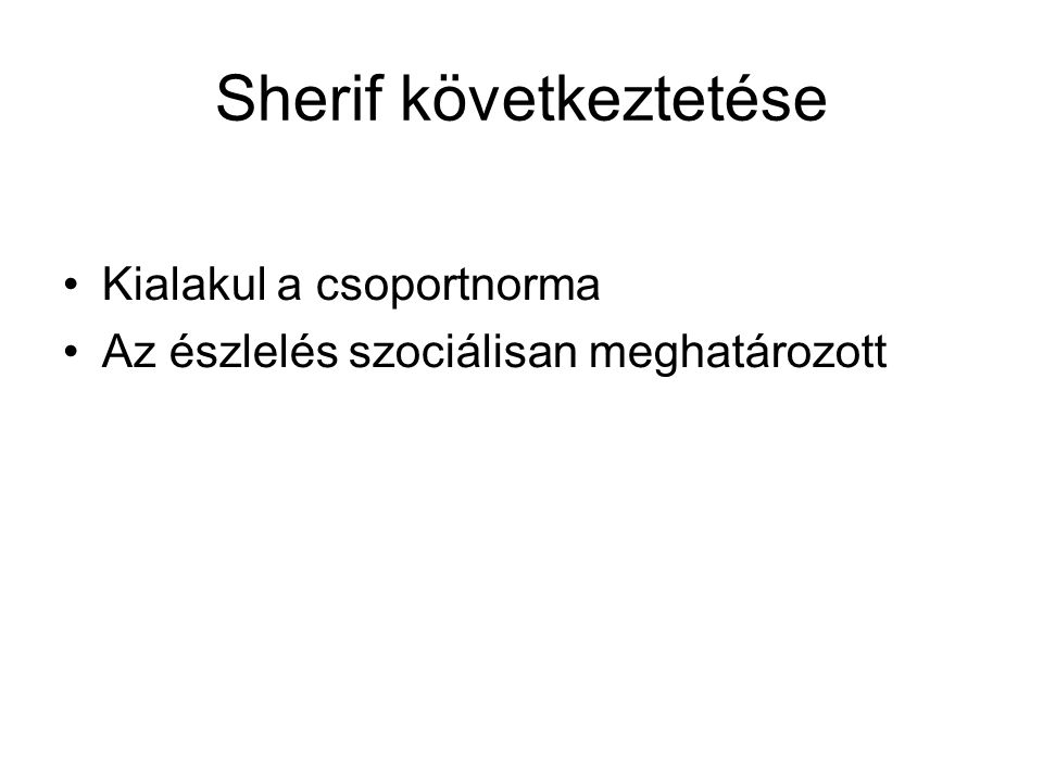 Sherif következtetése