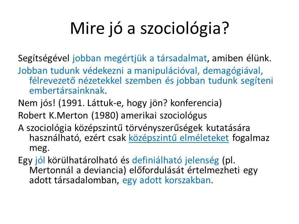 Mire jó a szociológia